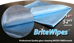 Brite Wipes professional quality glass cleaning towel