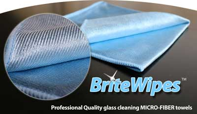BriteWipe high quality glass cleaning microfiber towel