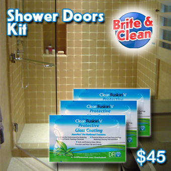 Clear Fusion V shower doors