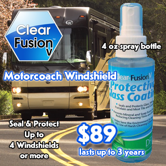 Clear Fusion V motor coach windshield