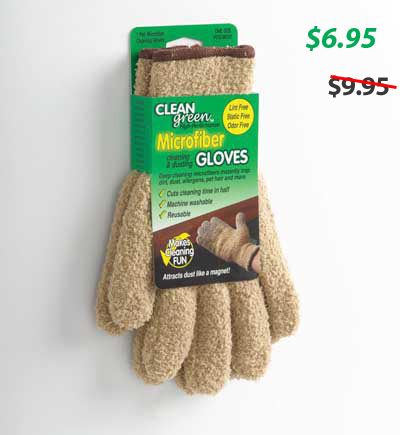 Clean Green microfiber gloves